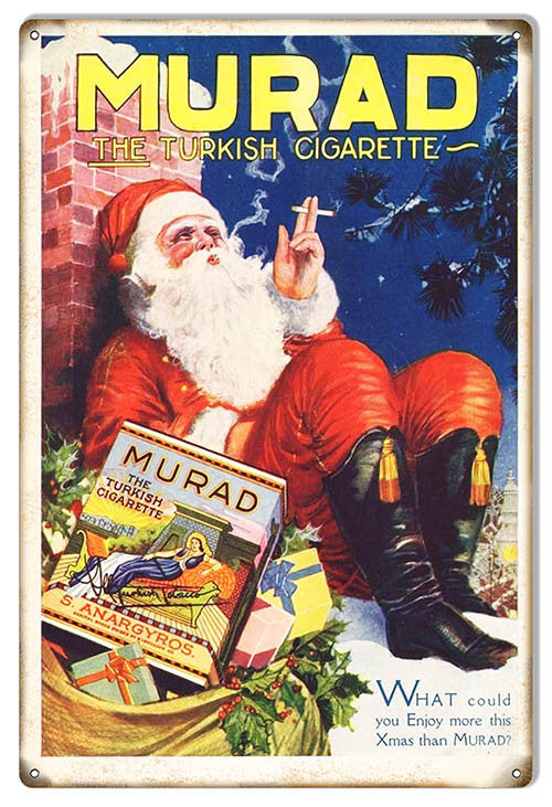 Murad Cigarette Reproduction Cigar Metal  Sign 12″x18″