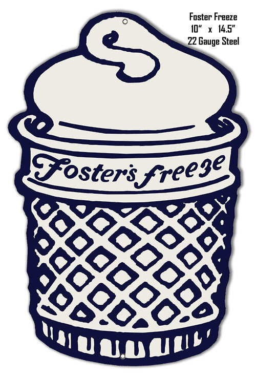 Fosters Freeze Laser Cut Out Metal  Sign 10″x14.5″