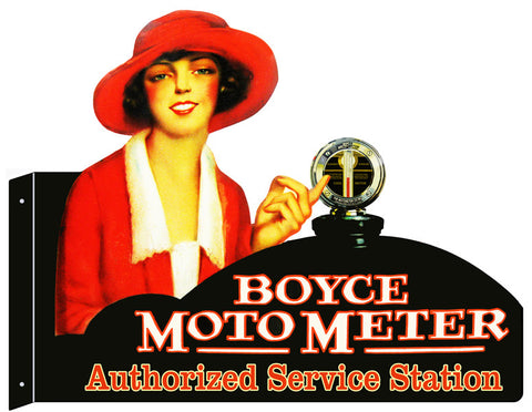 Boyce Moto Meter Laser Cut Out Metal  Sign 18″x23.5″