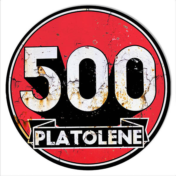 500 Platolene Reproduction Motor Oil Metal  Sign