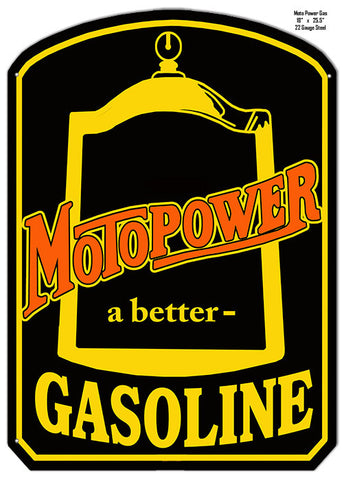 Motopower A Better Gasoline Reproduction Laser Cut Out Metal  Sign 18″x25.5″