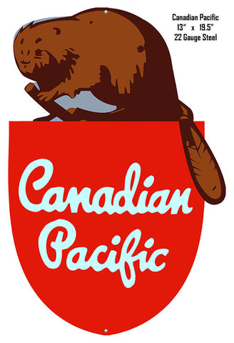 Reproduction Canadian Pacific Railroad Laser Cut Out Metal  Sign 13″x19.5″