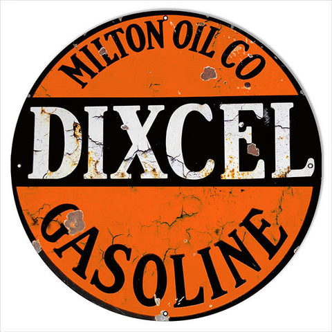 X- Large Reproduction Dixcel Gasoline Motor Oil Metal  Sign 24″x24″
