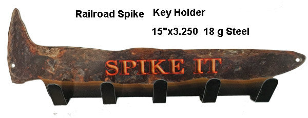 Railroad Spike Key Holder Laser Cut Out 3.25″x15″