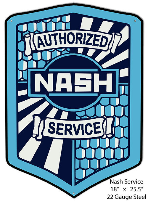 Nash Service Laser Cut Out Reproduction Metal  Sign 18″x25.5″