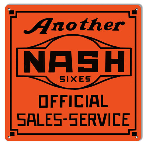 Another Nash Gas Station Reproduction Metal  Sign 12″x12″