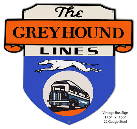 Greyhound Lines Reproduction Laser Cut Out 16.5″x17.5″