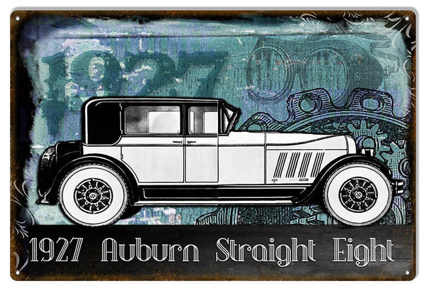 1927 Auburn Straight Eight Vintage Reproduction Metal  Sign 12″x18″