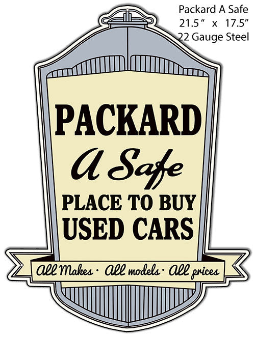 A Safe Place To Buy Packard Reproduction Metal Laser Cut Out 17.5″x21.5″