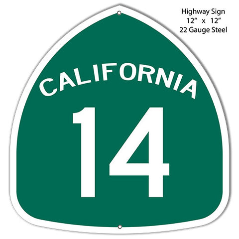 14 California Highway Laser Cut Out Reproduction Metal  Sign 12″x12″
