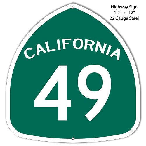 49 California Laser Cut Out Reproduction Metal  Sign 12″x12″
