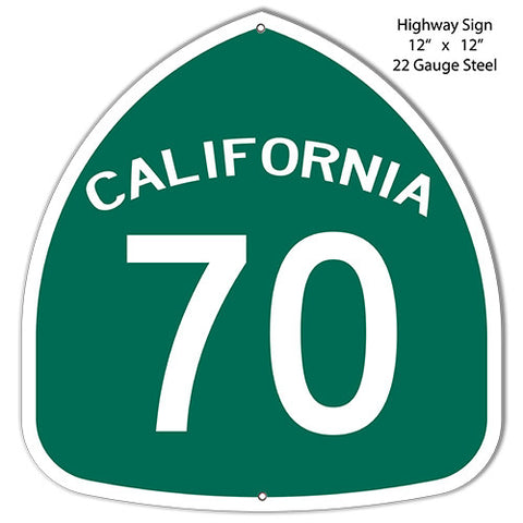70 California Laser Cut Out Reproduction Metal  Sign 12″x12″