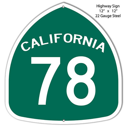 78 California Laser Cut Out Reproduction Metal  Sign 12″x12″
