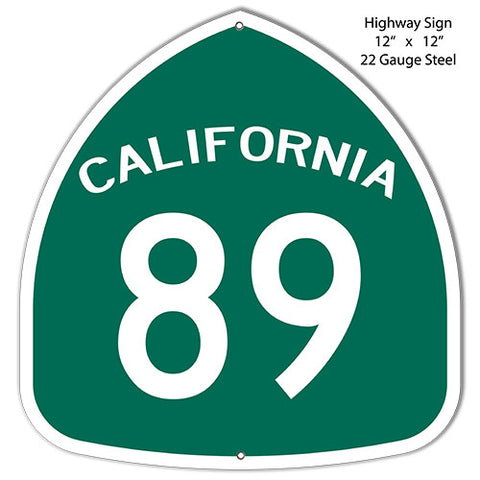 89 California Laser Cut Out Reproduction Metal  Sign 12″x12″