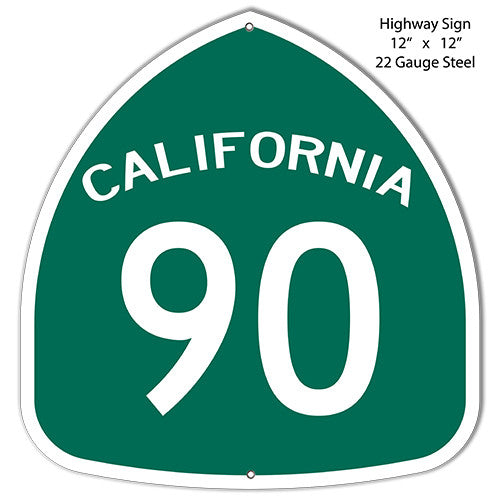 90 California Laser Cut Out Reproduction Metal  Sign 12″x12″