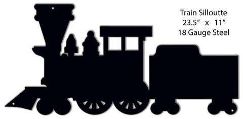 Train Silhouette Wall Key Holder 11″x23.5″