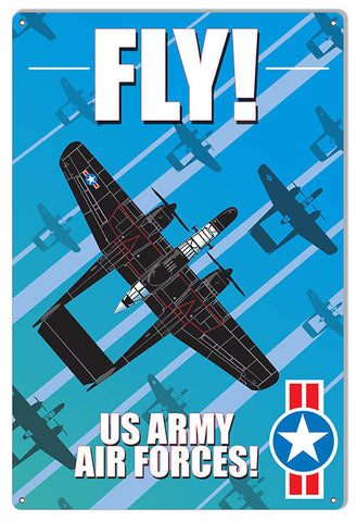 Fly US Army Aviation Reproduction Metal Sign 12″x18″