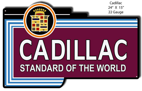 Cadillac Standard Reproduction Laser Cut Out 15″x24″