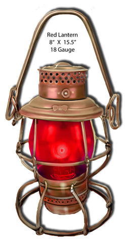 Light Red Lantern Laser Cut Out 8″x15.5″