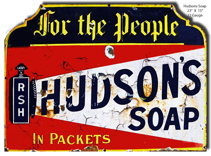 Hudson Soap Distressed Reproduction Laser Cut Out 15″x23″