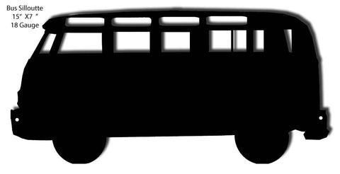 Bus Silhouette Laser Cut Out 7″x15″