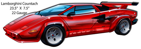 Lamborghini Countach Laser Cut Out By Artist Bernard Oliver 7.5″x23.5″