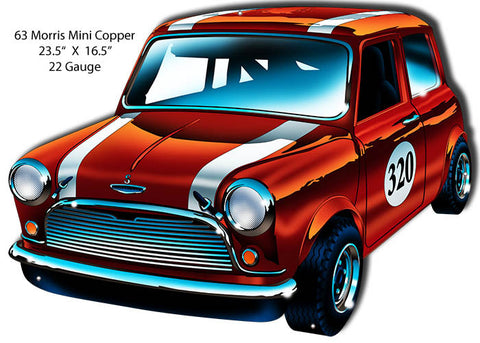 Mini Cooper Morris 63 Era Laser Cut Out By Bernard Oliver 16.5″x23.5″