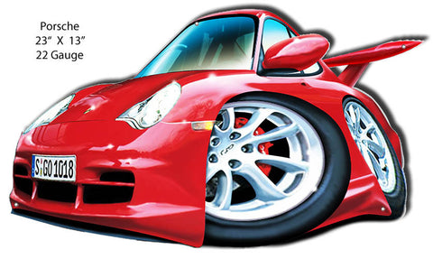 Porsche Red Laser Cut Out By Artist Bernard Oliver 13″x23″