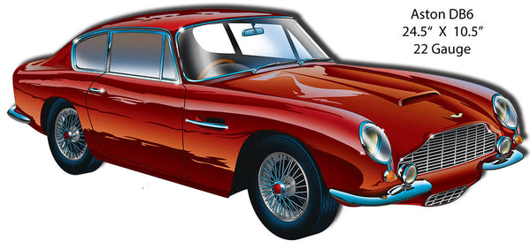 Aston DB6 Laser Cut Out By Artist Bernard Oliver 10.5″x24.5″
