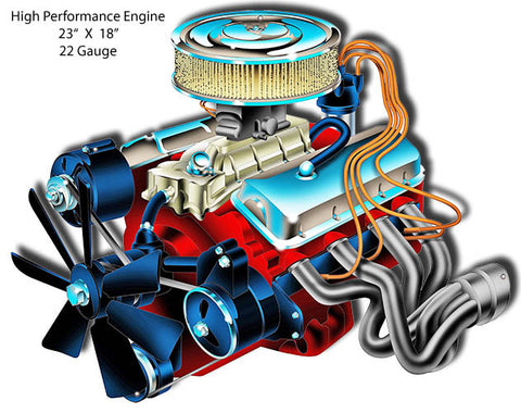 High Performance Engine Laser Cut Out By Bernard Oliver 18″x23″