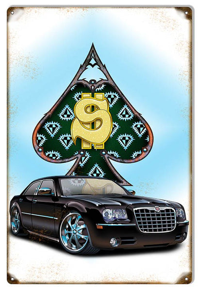 $ Cash Slick Ride By Artist Bernard Oliver 12″×18″