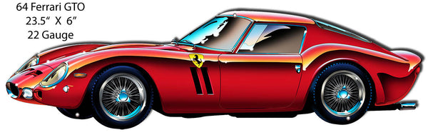 Ferrari GTO 64 Era Laser Cut Out By Artist Bernard Oliver 6″x23.5″