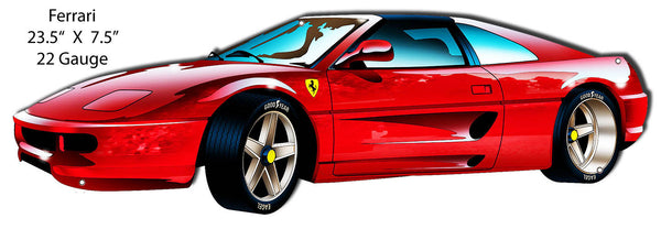 Red Ferrari Laser Cut Out By Bernard Oliver 7.5″x23.5″
