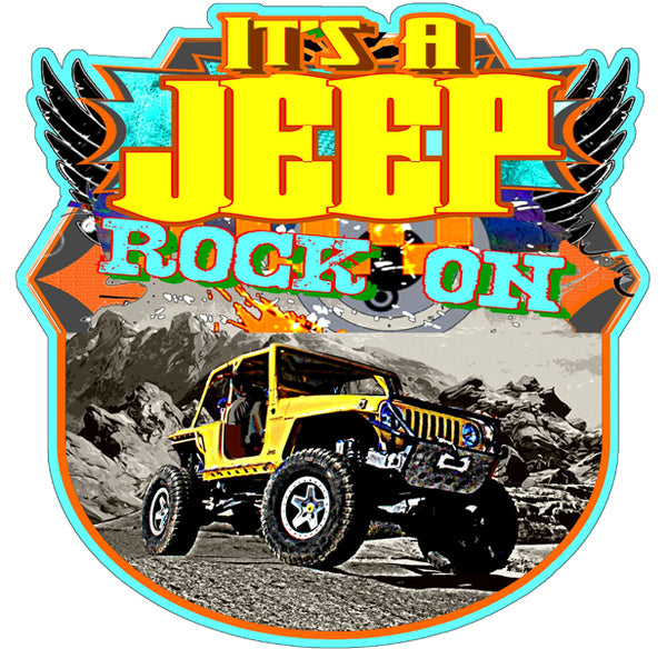 "Jeep Rock On Garage Shop Laser Cut Out By Phil Hamilton Sign 14""x14"""