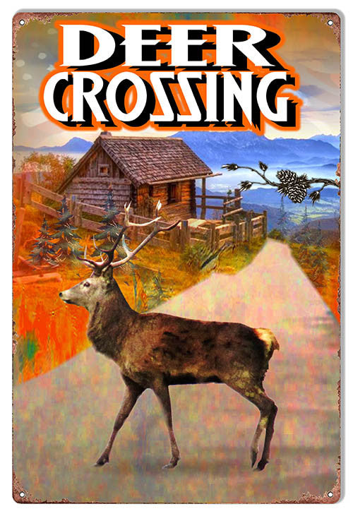 Deer Crossing By Artist Phil Hamilton 12″x18″