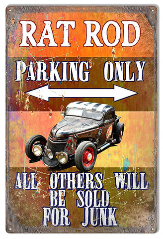 Rat Rod Parking Only By Artist Phil Hamilton 12″x18″
