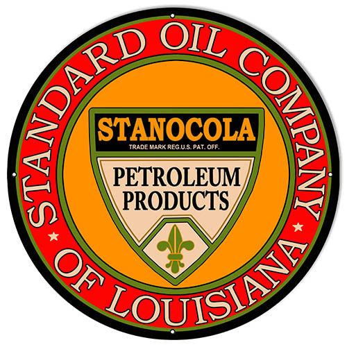 Large Standard Oil Company Gas Station Reproduction Sign 18″x18″