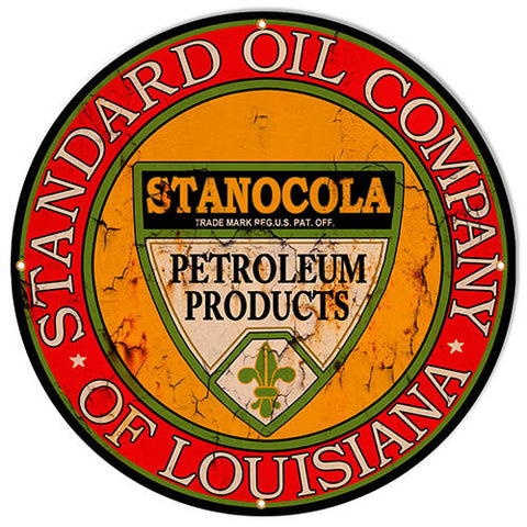 Extra Large Standard Oil Reproduction Gas Station Sign 30″x30″