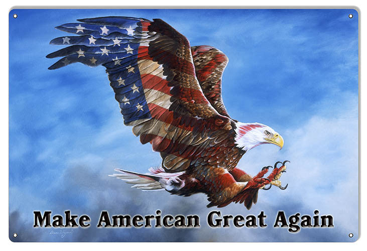 Make America Great Eagle By Artist Donna Wayman 12″x18″