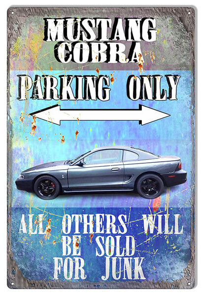 Mustang Cobra Parking Only By Phil Hamilton 12″x18″