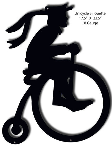 Unicycle Silhouette Laser Cut Out 17.5″x23.5″