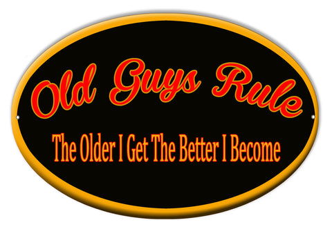 Old Guys Rule Bar Sign 9″x14″ Oval