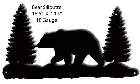 Bear Silhouette Laser Cut Out 10.5″x16.5″