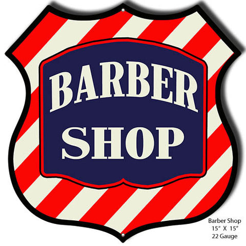 Barber Shop Laser Cut Out Sign 15″x15″