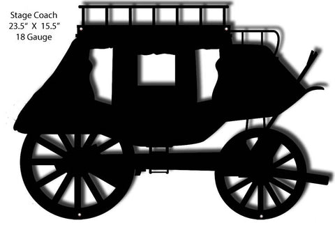 Laser Cut Out Stage Coach 15.5″x23.5″