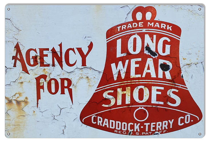 Long Wear Shoes Nostalgic Reproduction Sign 12″x18″