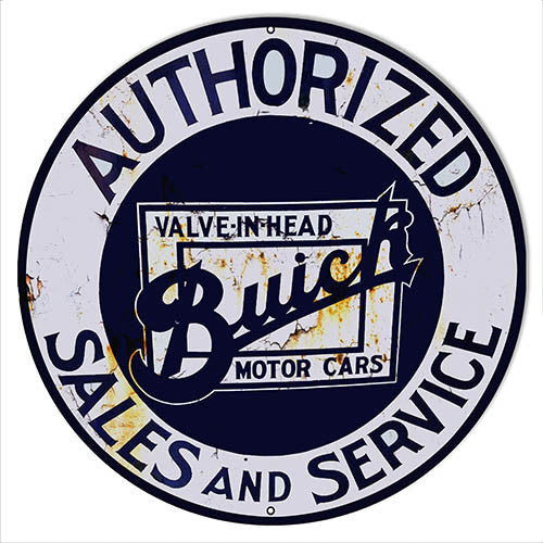Buick Sales & Service Gas Station Reproduction Sign 14″x14″