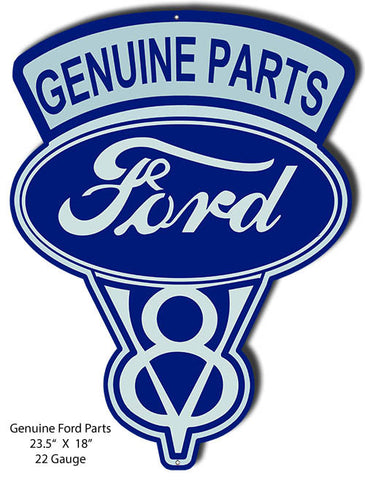 Ford Genuine Parts Laser Cut Out Reproduction 18″x23.5″