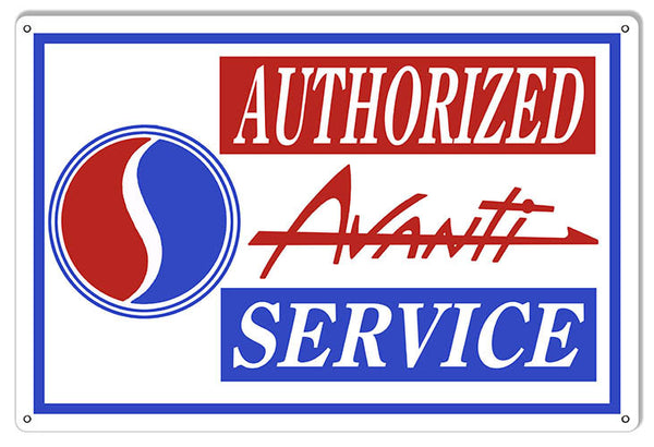 Avanti Authorized Gas Station Reproduction Sign 12″x18″
