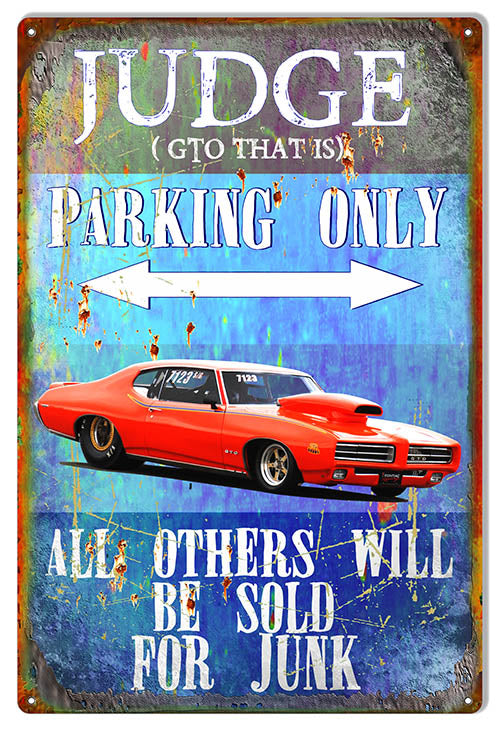 "GTO Parking Only Garage Shop Sign By Phil Hamilton 12""x18"""